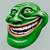 Green trollface. Internet troll 3d illustration stock photo © motttive