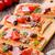 pizza · de · luxo · fatia · quente · calabresa · cogumelos - foto stock © mpessaris