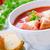 томатный · суп · белый · тоста · хлеб · большой · пластина - Сток-фото © mpessaris