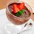 csokoládé · hab · eprek · fa · asztal · étel · étterem · zöld - stock fotó © mpessaris