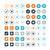 round and circle web business vector icons eps10 stock photo © mpfphotography