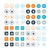 round and circle computer vector icons eps10 stock photo © mpfphotography