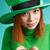 trevo · verde · grunge · quatro · folha · cópia · espaço - foto stock © mrakor