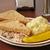 mustár · burgonyasaláta · sonka · saláta · ebéd · krumpli - stock fotó © msphotographic
