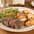 marhahús · krumpli · szeletel · hús · zöldségek · ebéd - stock fotó © msphotographic