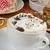 slagroom · foto · heerlijk · koffie · koffiebonen - stockfoto © msphotographic
