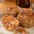 húsgombócok · sajt · spanyol · hús · golyók · márványsajt - stock fotó © msphotographic