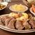 carne · de · porco · batatas · suculento · brinde · frito · salada - foto stock © msphotographic