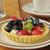 vruchten · taart · room · voedsel · witte · bakkerij - stockfoto © msphotographic
