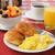 vers · ontbijt · voedsel · roereieren · sap · salade - stockfoto © msphotographic