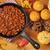 çili · vejetaryen · fasulye · beyaz · çanak · gıda - stok fotoğraf © msphotographic