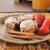 kávé · fahéj · tekercsek · bogyók · reggeli · fa · asztal - stock fotó © msphotographic