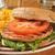 salmon burger closeup stock photo © msphotographic