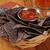 tortilla · puces · salsa · bière · panier · bleu - photo stock © MSPhotographic