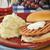 salmon burger on a picnic table stock photo © msphotographic