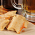 bar snacks pizza rolls and beer stock photo © msphotographic