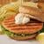 grilled salmon burger stock photo © msphotographic