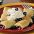 blueberry blintzes with shipped cream stock photo © msphotographic