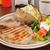 гриль · свинина · Салат · картофельный · салат · зеленый · красный - Сток-фото © msphotographic