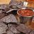 bleu · maïs · tortilla · puces · salsa · bière - photo stock © MSPhotographic
