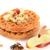 fatias · maçãs · manteiga · de · amendoim · vidro · fundo · gordura - foto stock © msphotographic