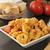 tigela · macarrão · pesto · parmesão · comida · ervas - foto stock © msphotographic