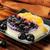blueberry peach panna cotta stock photo © msphotographic