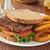сэндвич · картофель · фри · хлеб · мяса · стейк - Сток-фото © msphotographic