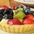 vruchten · taart · dessert · zomer · aardbei · lunch - stockfoto © msphotographic