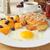 vla · amandel · croissant · vulling · beker · koffie - stockfoto © msphotographic