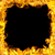 feu · frontière · flammes · espace · de · copie · centre · noir - photo stock © mtkang