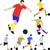 voetbal · spelers · silhouetten · ingesteld · voetbal · bal - stockfoto © mtmmarek
