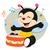 bebê · abelha · jogar · tambor · piso · musical - foto stock © mumut