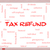tax refund word cloud concept on a whiteboard stock photo © mybaitshop