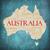 Australien · Wort-Wolke · Karte · unterschiedlich · herum - stock foto © mybaitshop