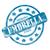 blue weathered umbrella insurance stamp circles and stars stock photo © mybaitshop