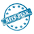 blue weathered help desk stamp circle and stars stock photo © mybaitshop