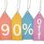 ninety percent off sale colorful tags stock photo © mybaitshop