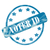 blue weathered voter id stamp circle and stars stock photo © mybaitshop