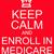 keep calm and enroll in medicare red sign stock photo © mybaitshop