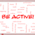 be active word cloud concept on a whiteboard stock photo © mybaitshop