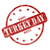 red weathered happy turkey day stamp circle and stars stock photo © mybaitshop