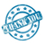 blue weathered thank you stamp circles and stars stock photo © mybaitshop