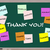thank you written on blackboard in different languages stock photo © mybaitshop