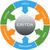 ebitda word circles wheel concept stock photo © mybaitshop