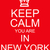 keep calm you are in new york red sign stock photo © mybaitshop