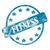 blue weathered fitness stamp circle and stars stock photo © mybaitshop