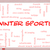winter sports word cloud concept on a whiteboard stock photo © mybaitshop