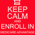 keep calm and enroll in medicare advantage red sign stock photo © mybaitshop