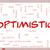 optimistic word cloud concept on a whiteboard stock photo © mybaitshop